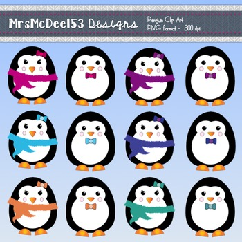 Clipart penquin theme. Penguins graphics set winter