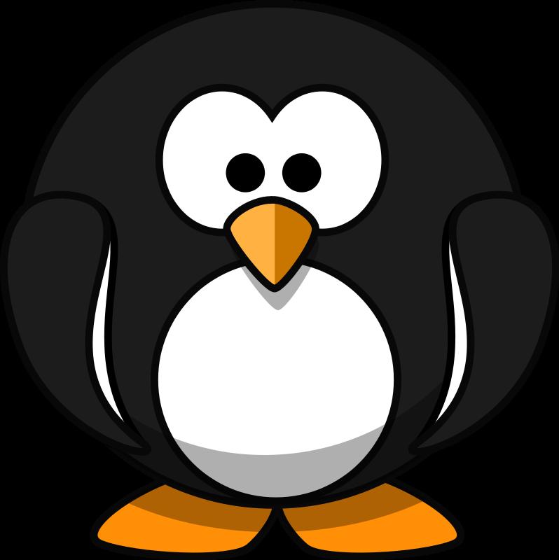 Clipart penquin traceable. Clip art cartoon animals