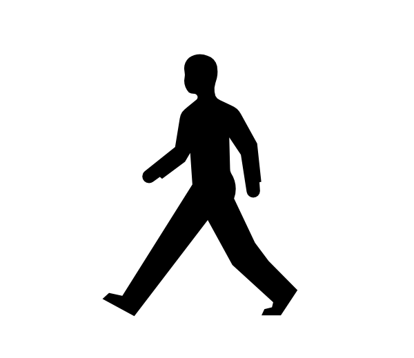 People clipart body. Male walking clip art
