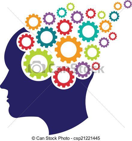 Thinking free download best. Psychology clipart gear brain