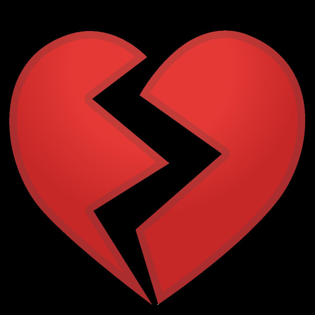People clipart broken hearted. Heart icon noto emoji