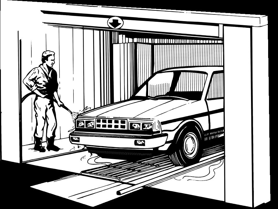 Free stock photo illustration. Guy clipart car wash