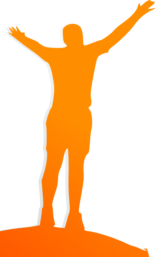 Celebrating orange man i. People clipart celebration