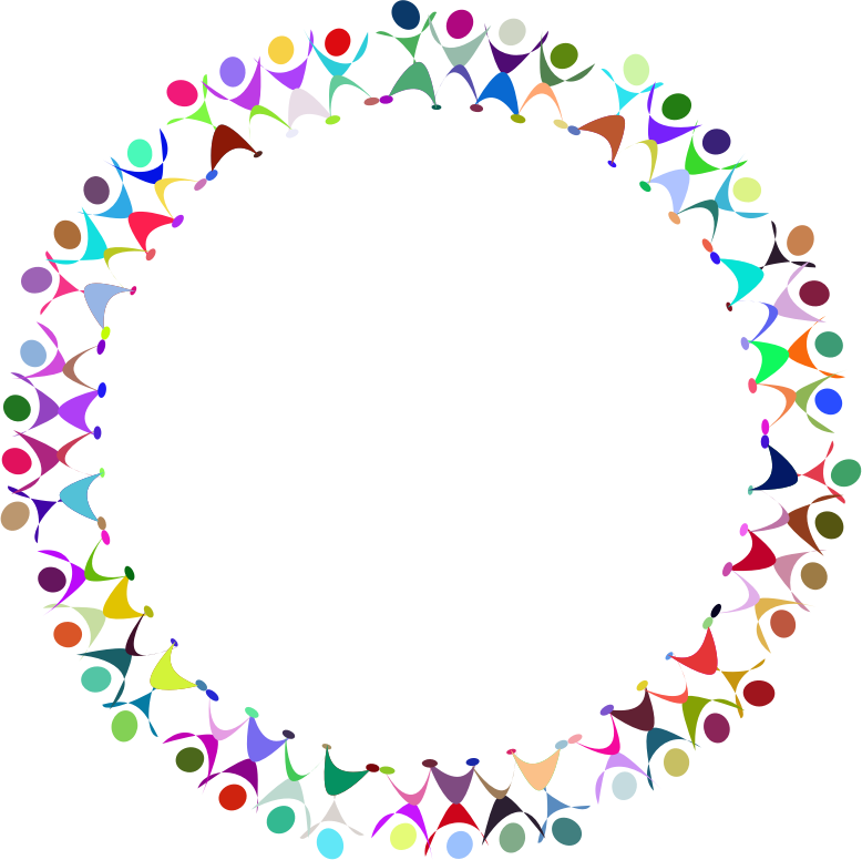 Clipart people circle. Dancing prismatic medium image