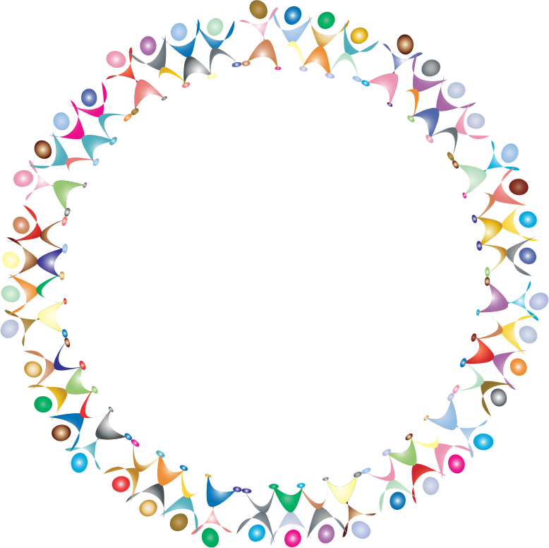 Dancing prismatic medium image. Clipart people circle