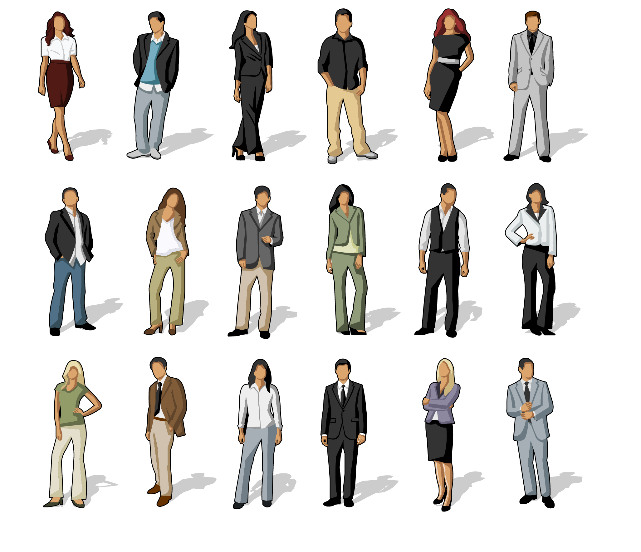 Professional clipart buisness. Business casual clothing clip