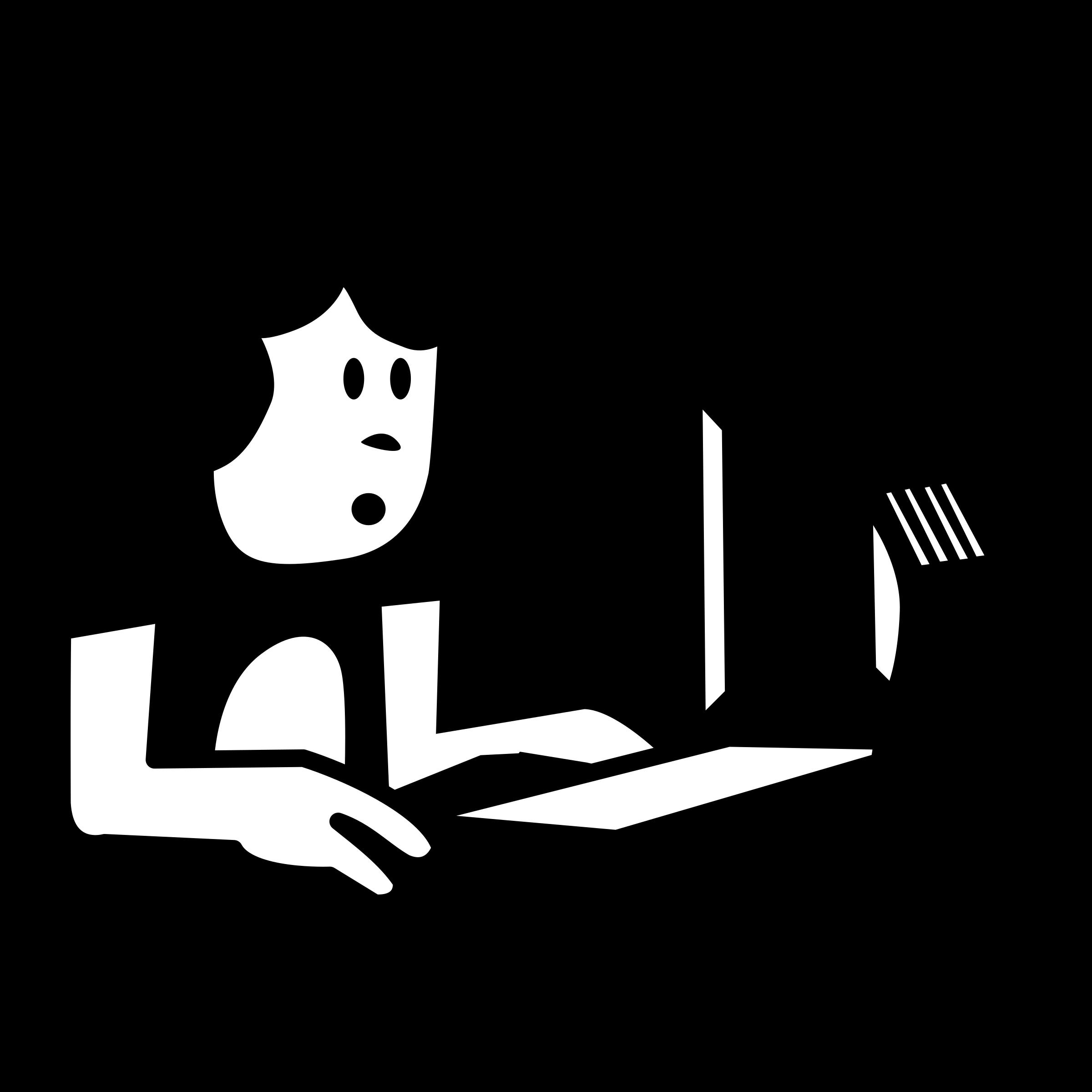Clipart people computer. Personnage ordinateur big image