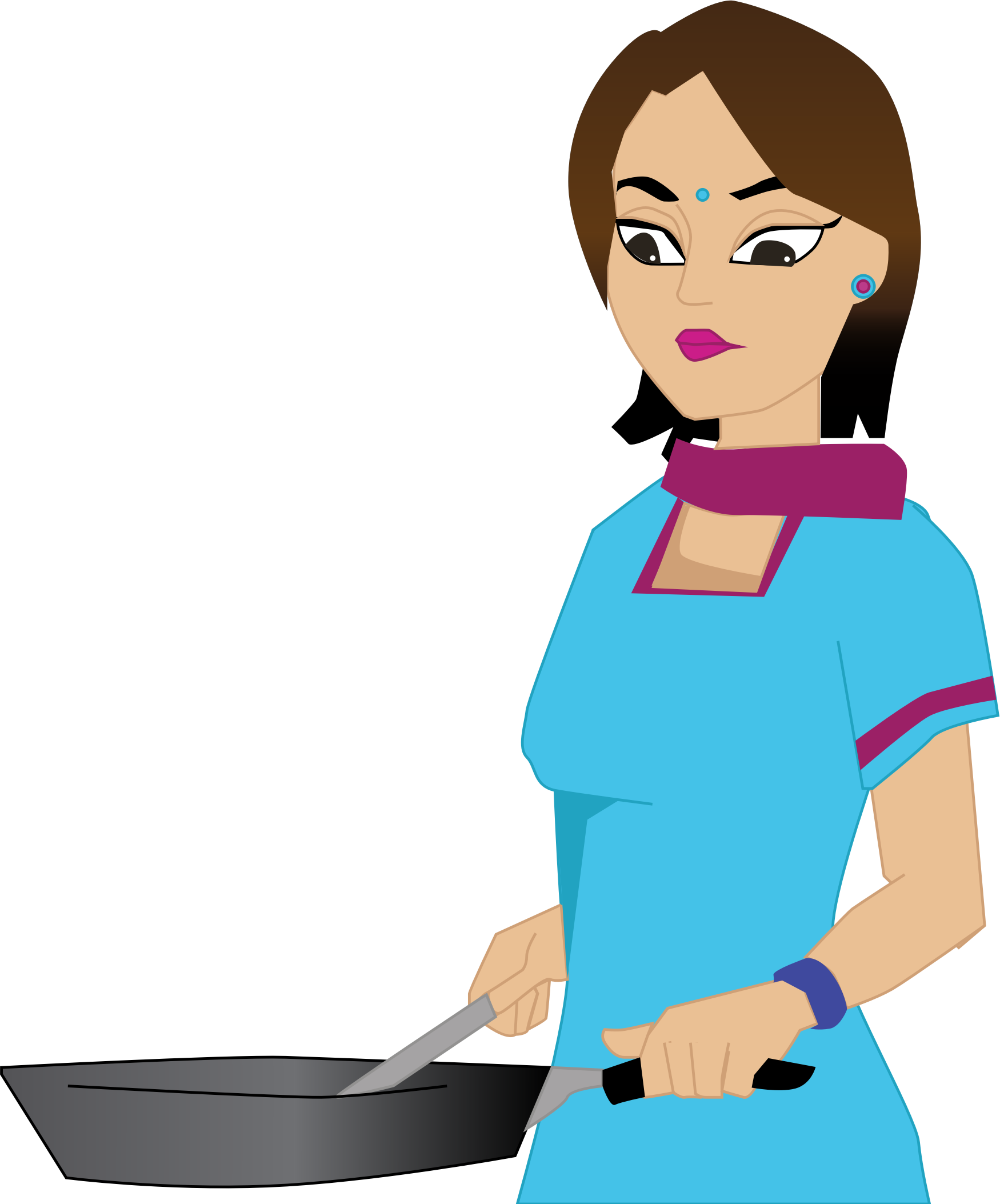 female clipart baking
