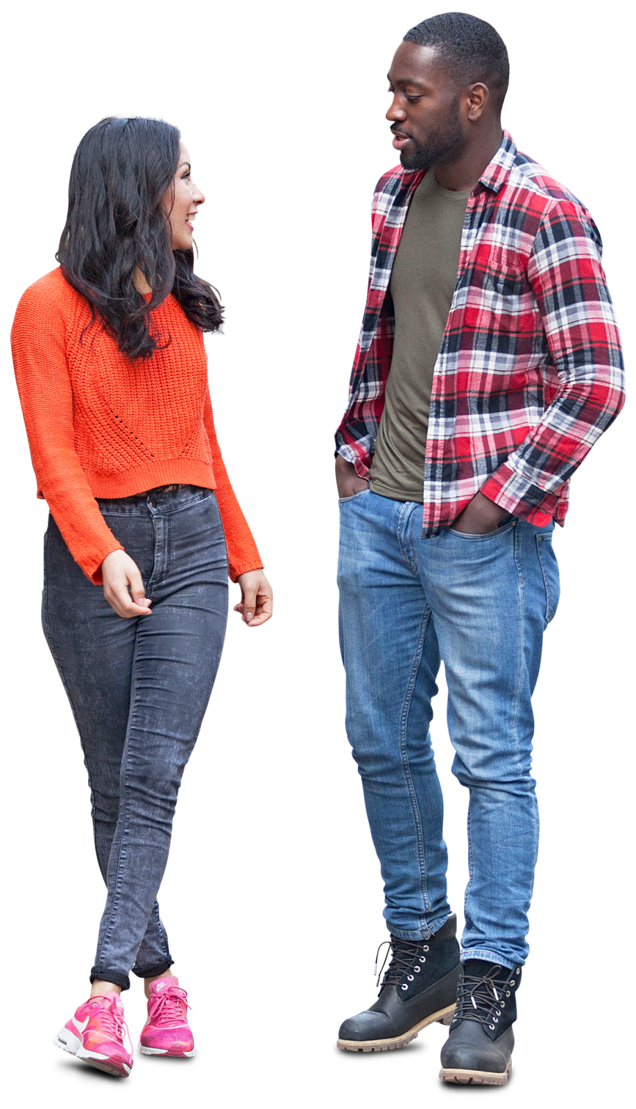 Clipart people cut out. Friends couple standing free