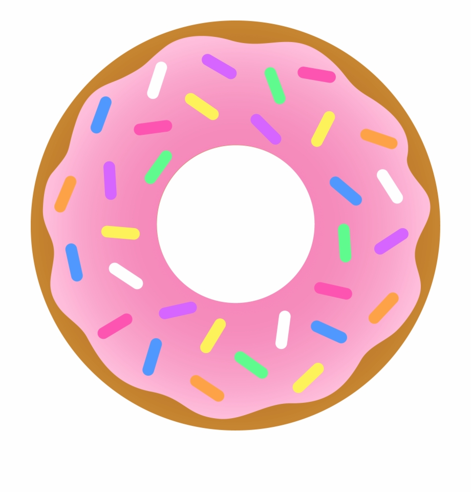 Free png images . Donut clipart pink donut
