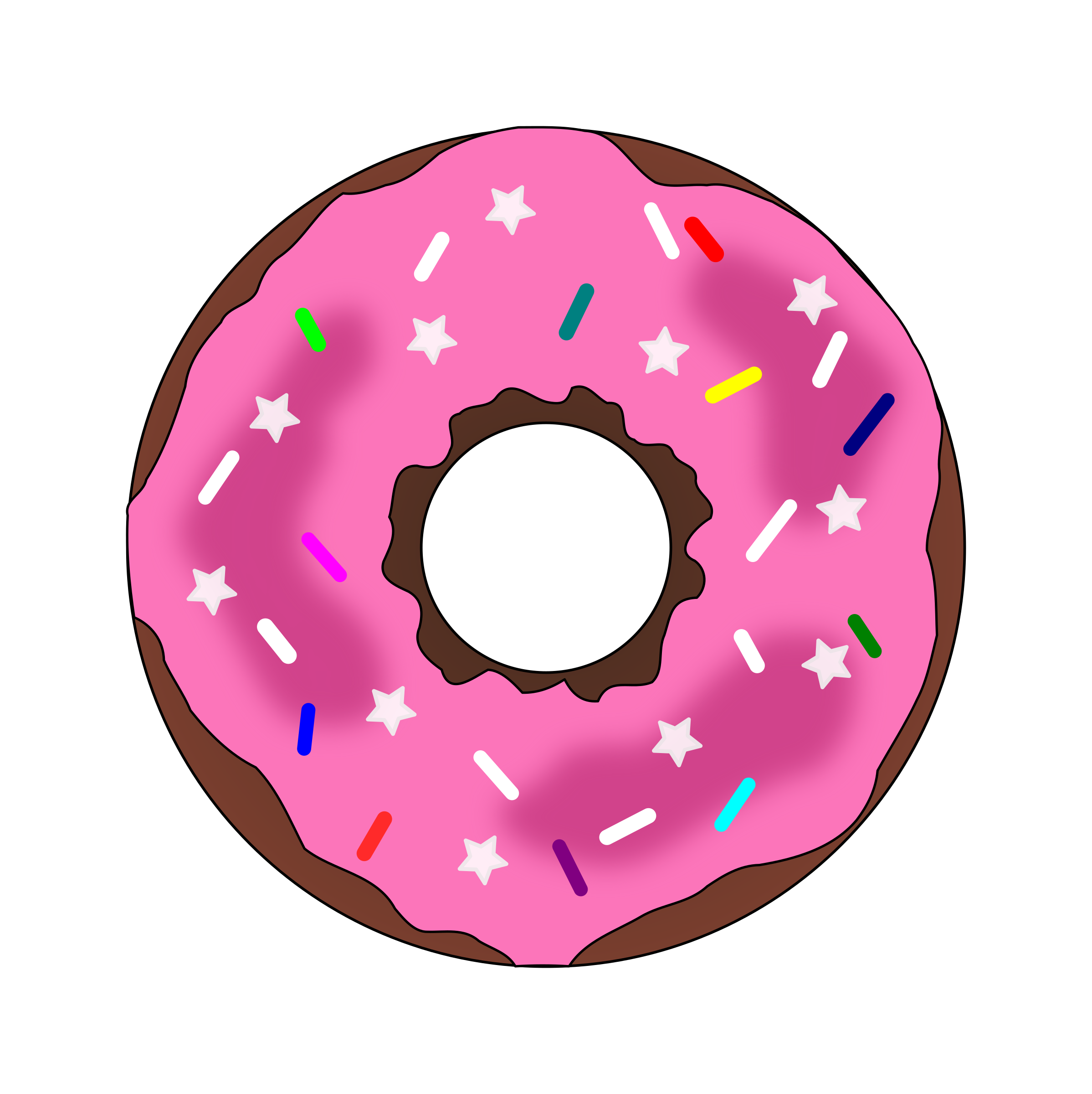Donut clipart twist. Stars and sprinkles big