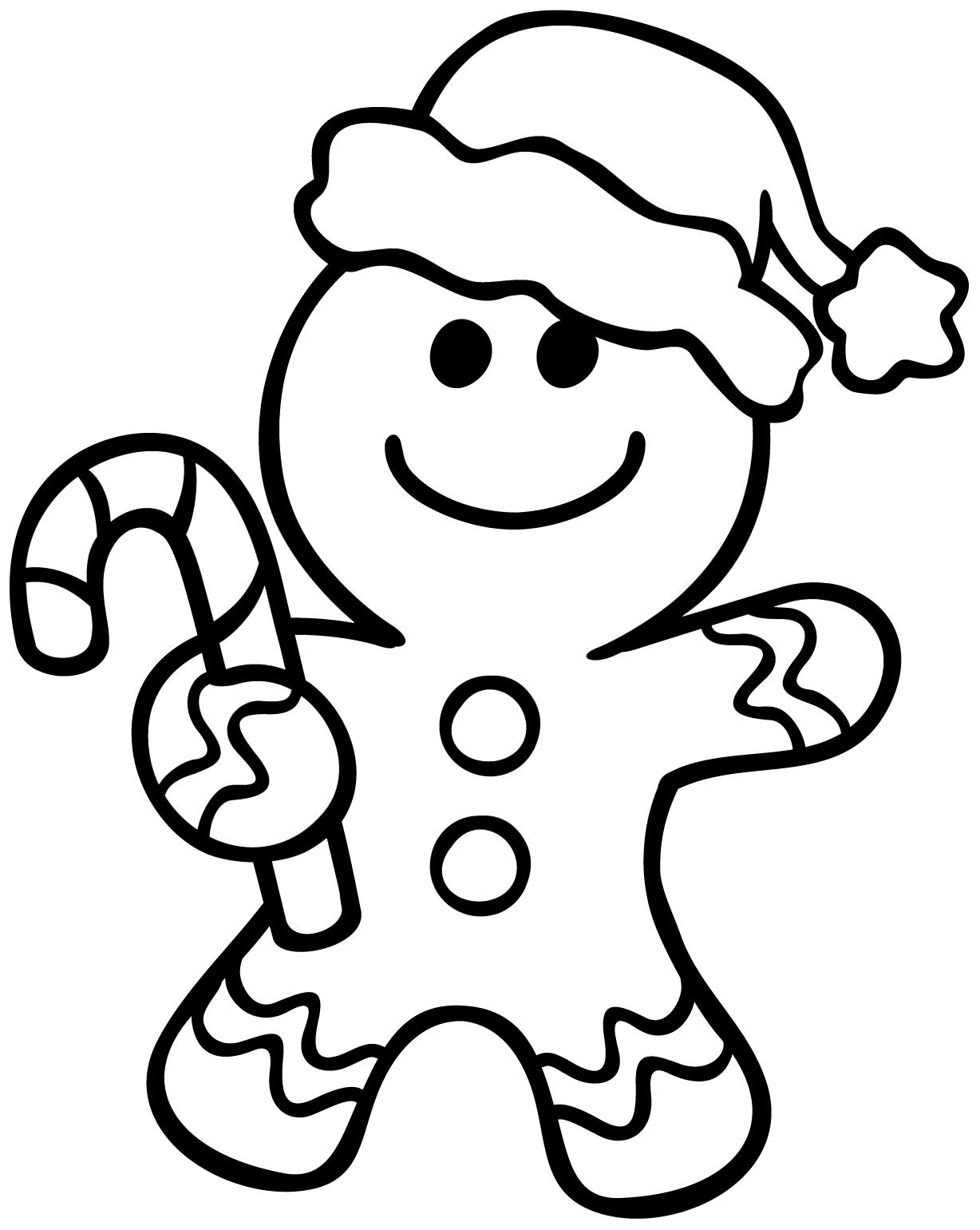 Clipart people easy. Ginger man coloring page