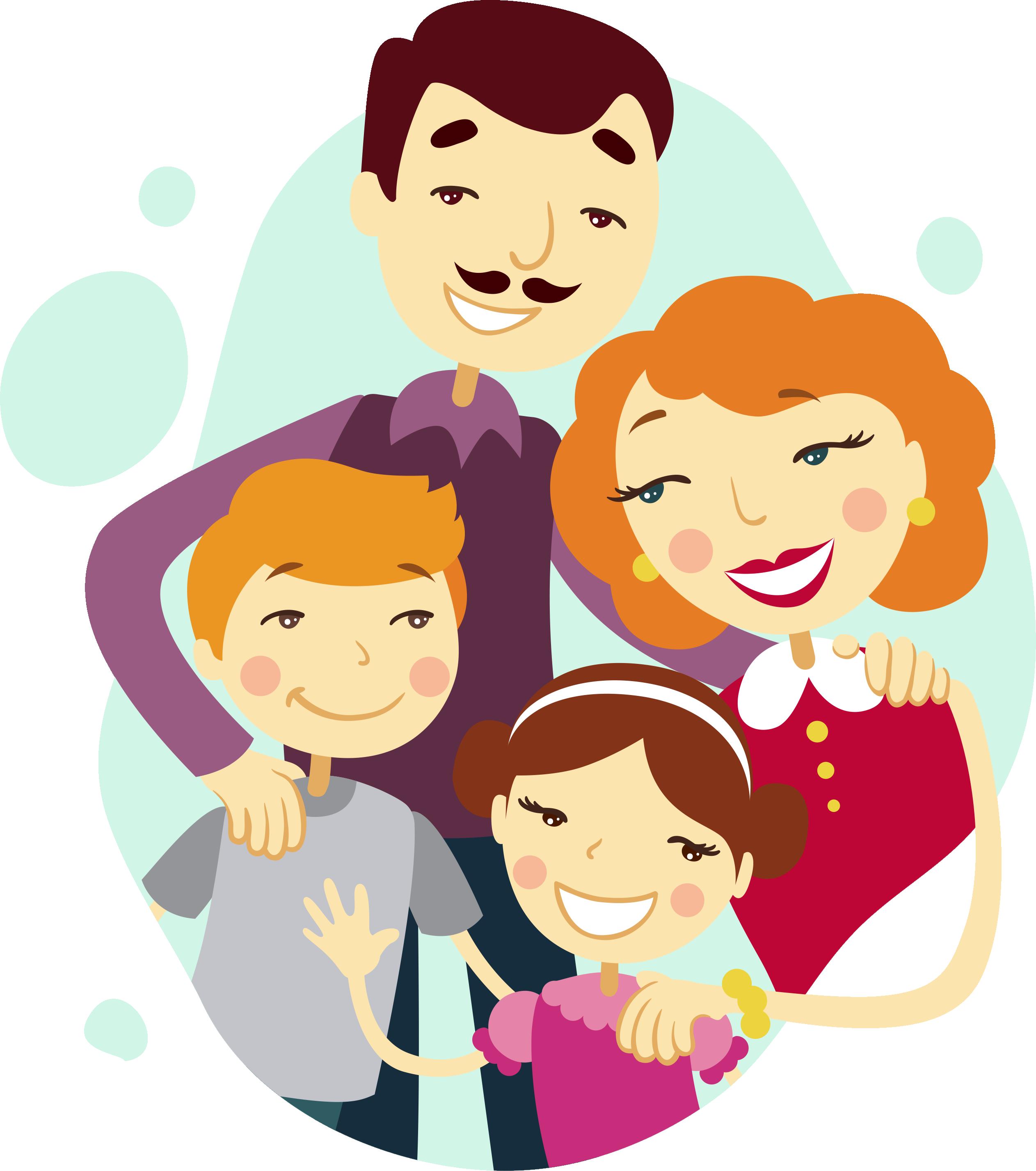 Emotions clipart four basic. Family tree cartoon illustration
