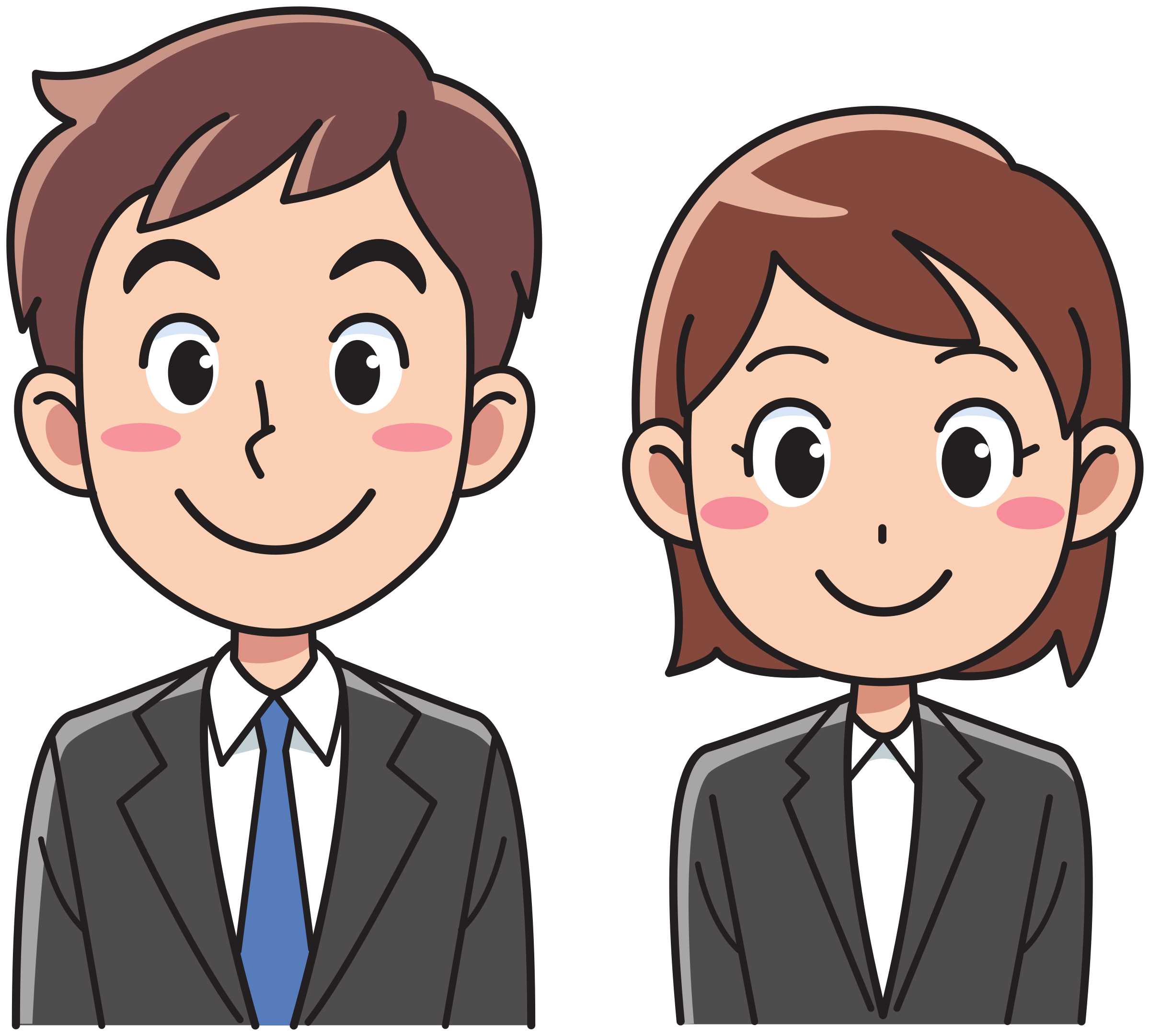 Clipart people female. Business man and woman