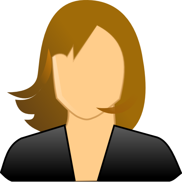 Faceless woman clip art. Person clipart female