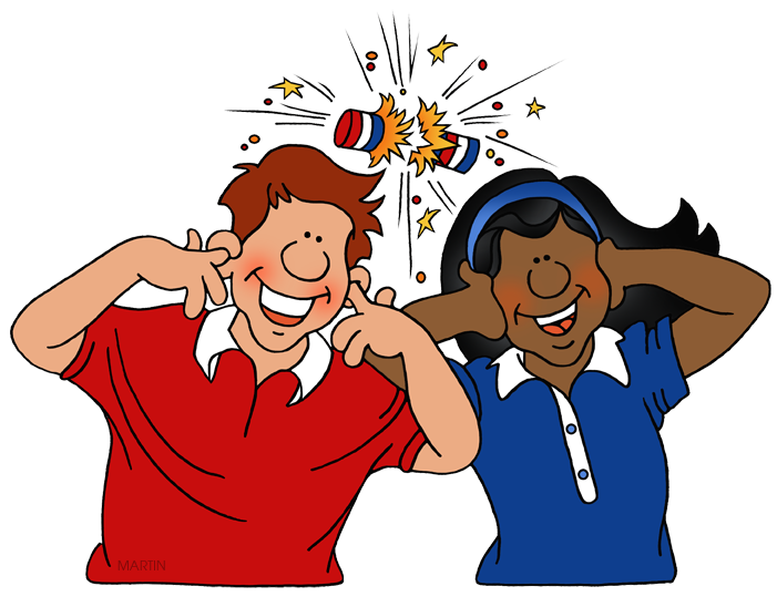 People clipart fire. Fourth of july clip