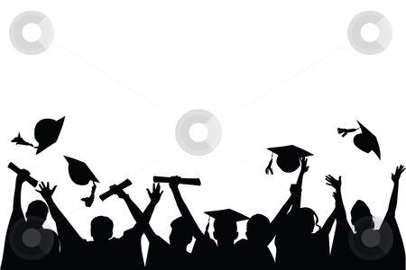 Graduation clipart vector. Celebration stock