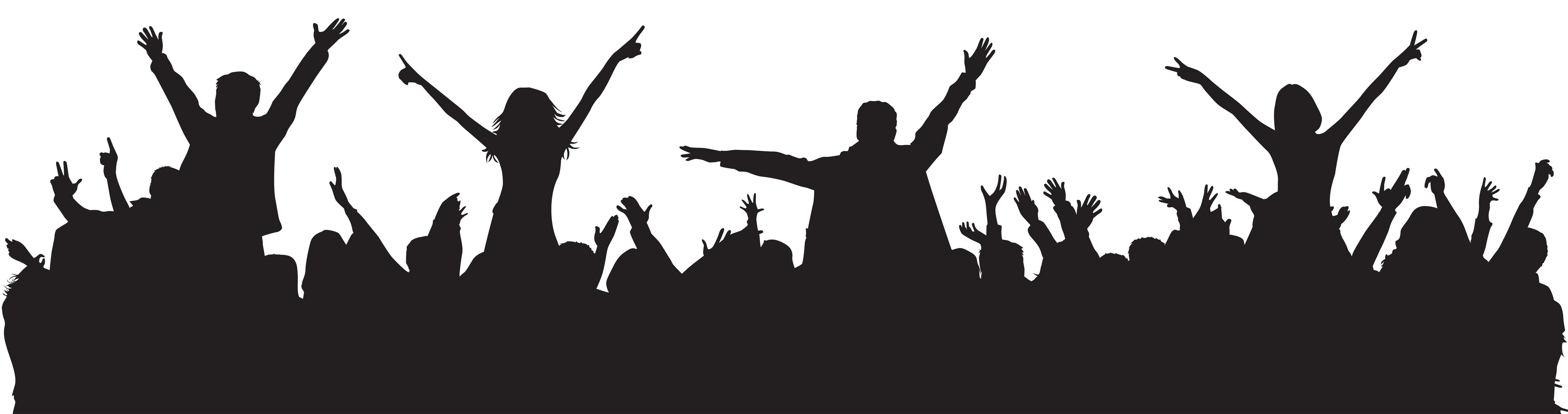 D20 clipart black and white. Party people silhouette png