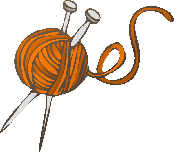 knitting clipart woman knitting