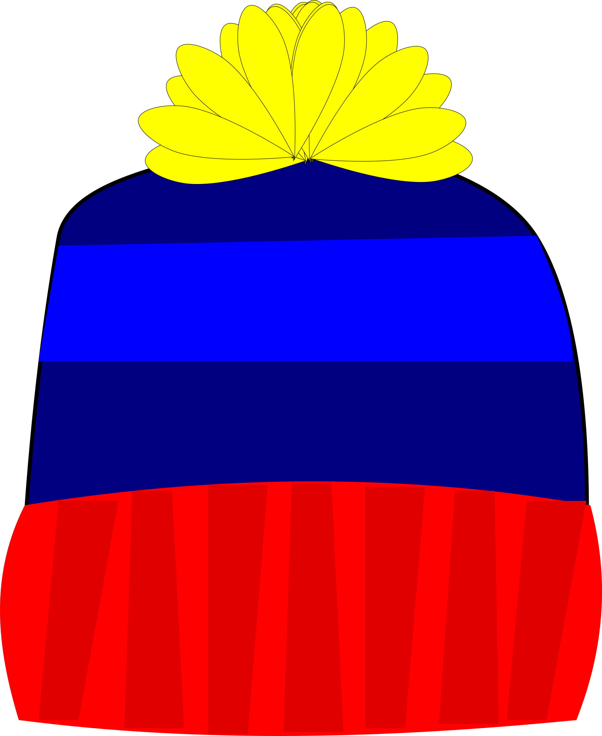knitting clipart knitted hat