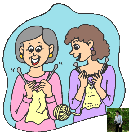 Free ladies cliparts download. Knitting clipart knitting group