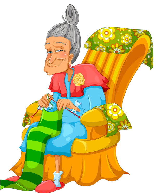 Personnages illustration individu personne. Garden clipart grandmother