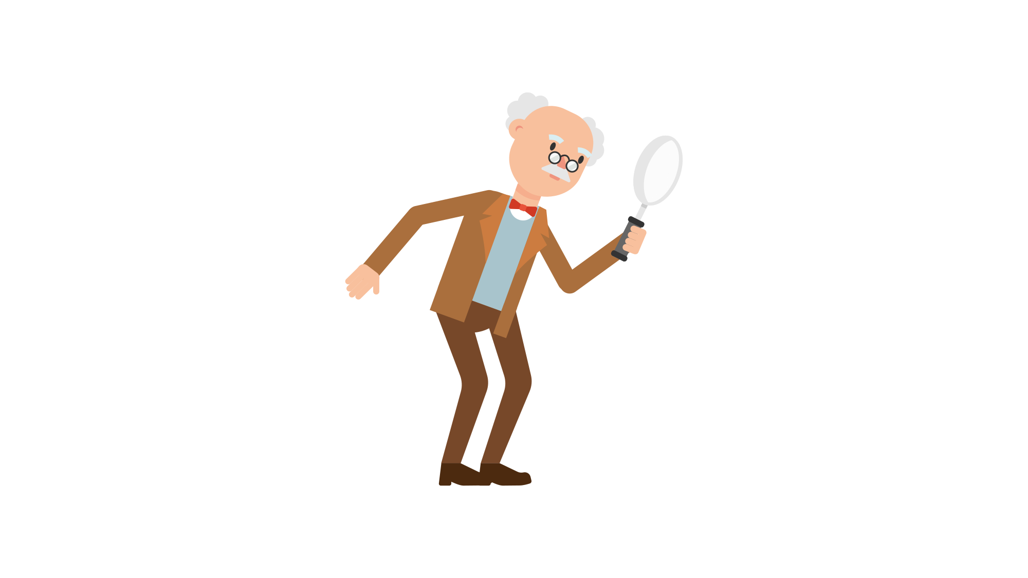 File professor holding a. People clipart magnifying glass