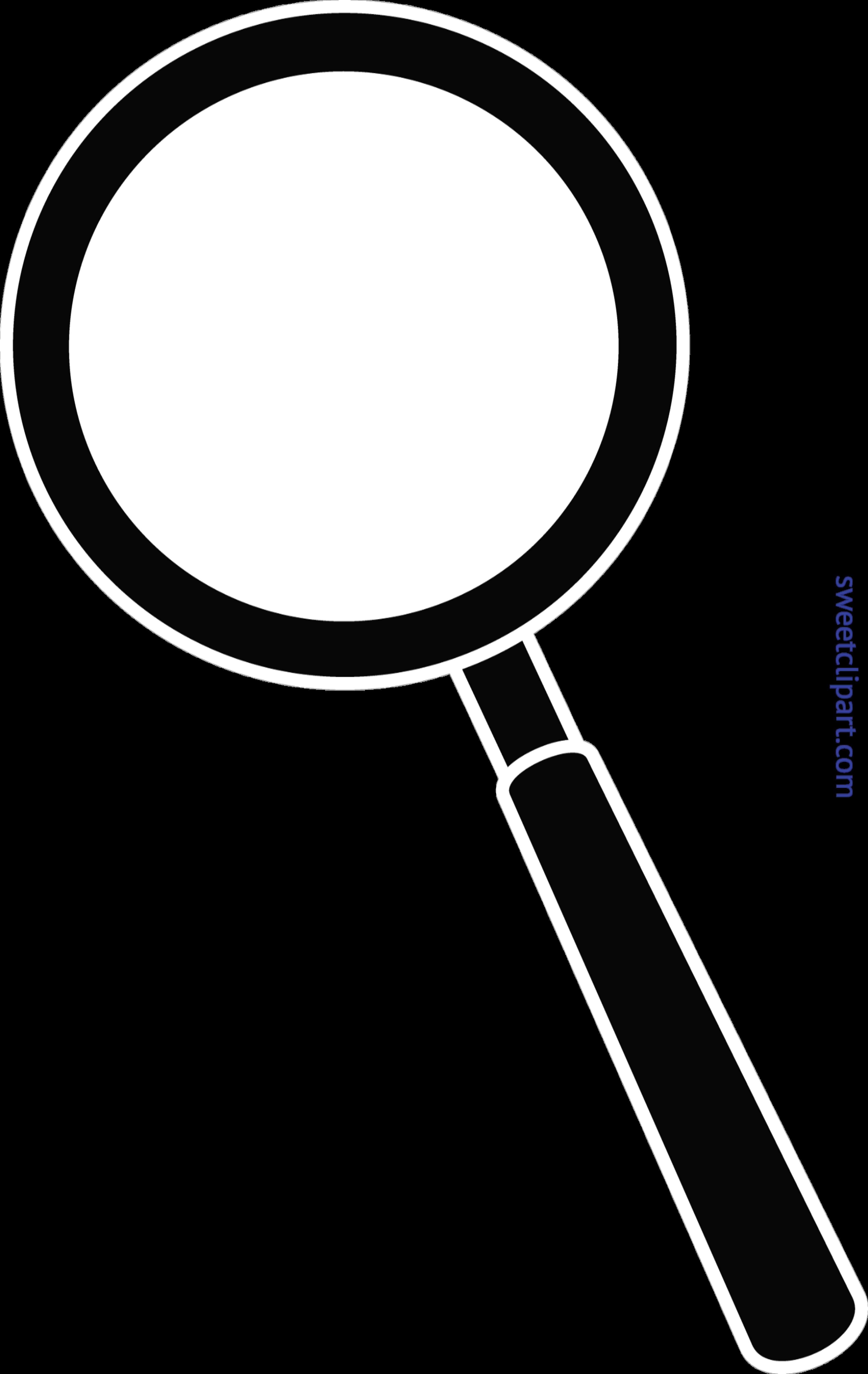 Magnifying black clip art. Clipart unicorn glass