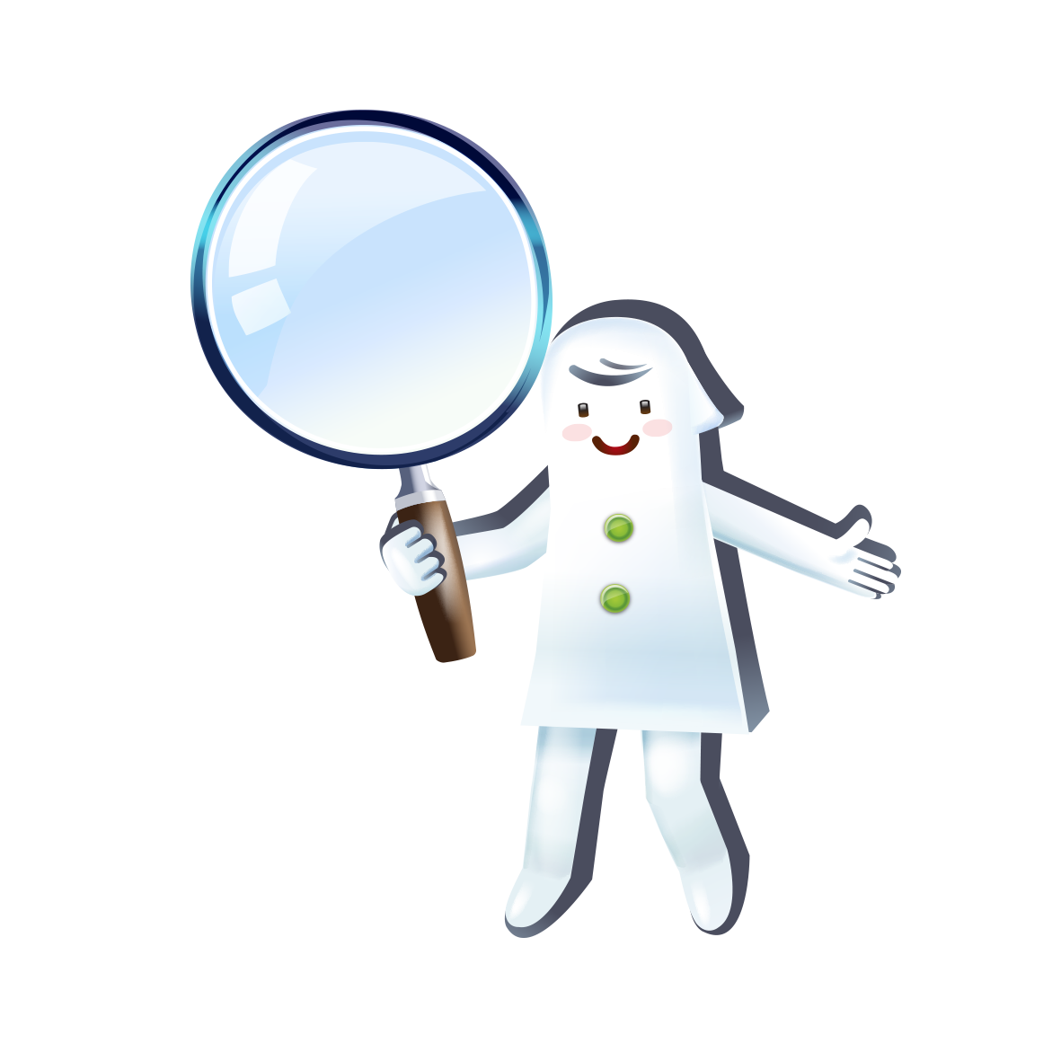 Cartoon clip art take. People clipart magnifying glass