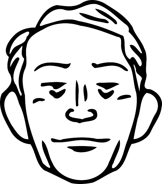 Clipart people man. Head old outline male