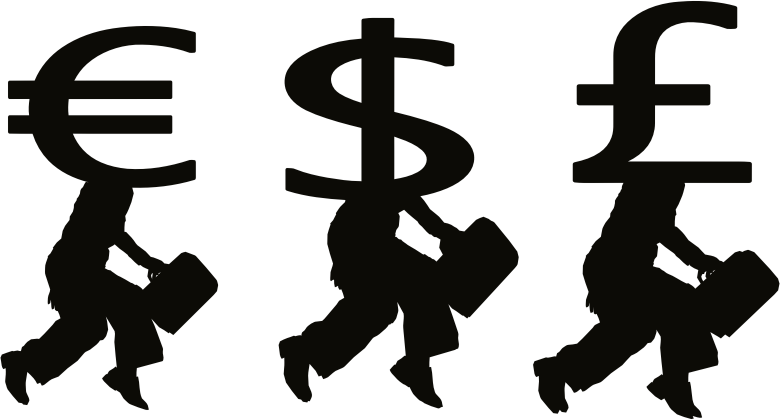 Clipart people money. Silhouette medium image png