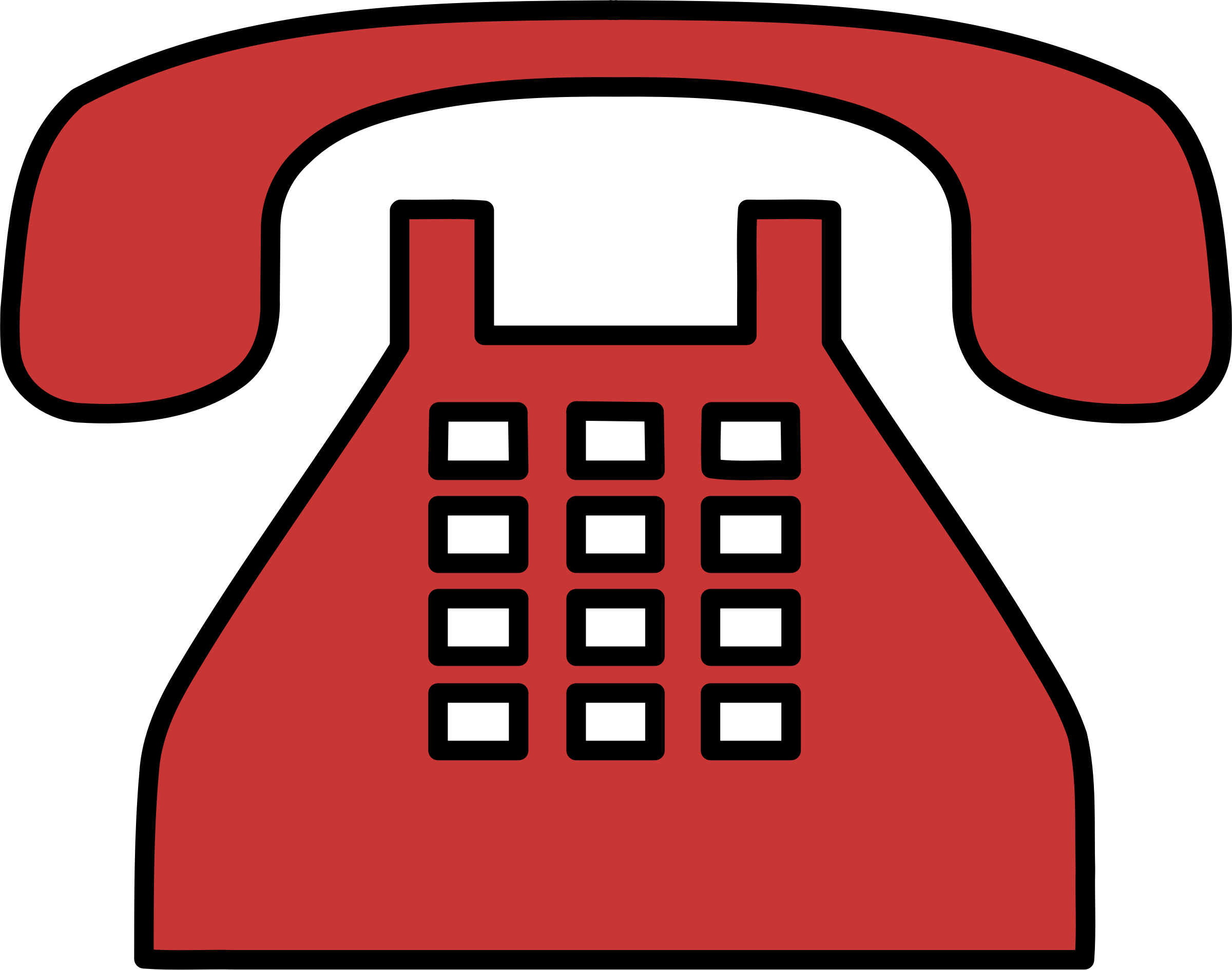 Phone clipart old style. Fashioned big image png
