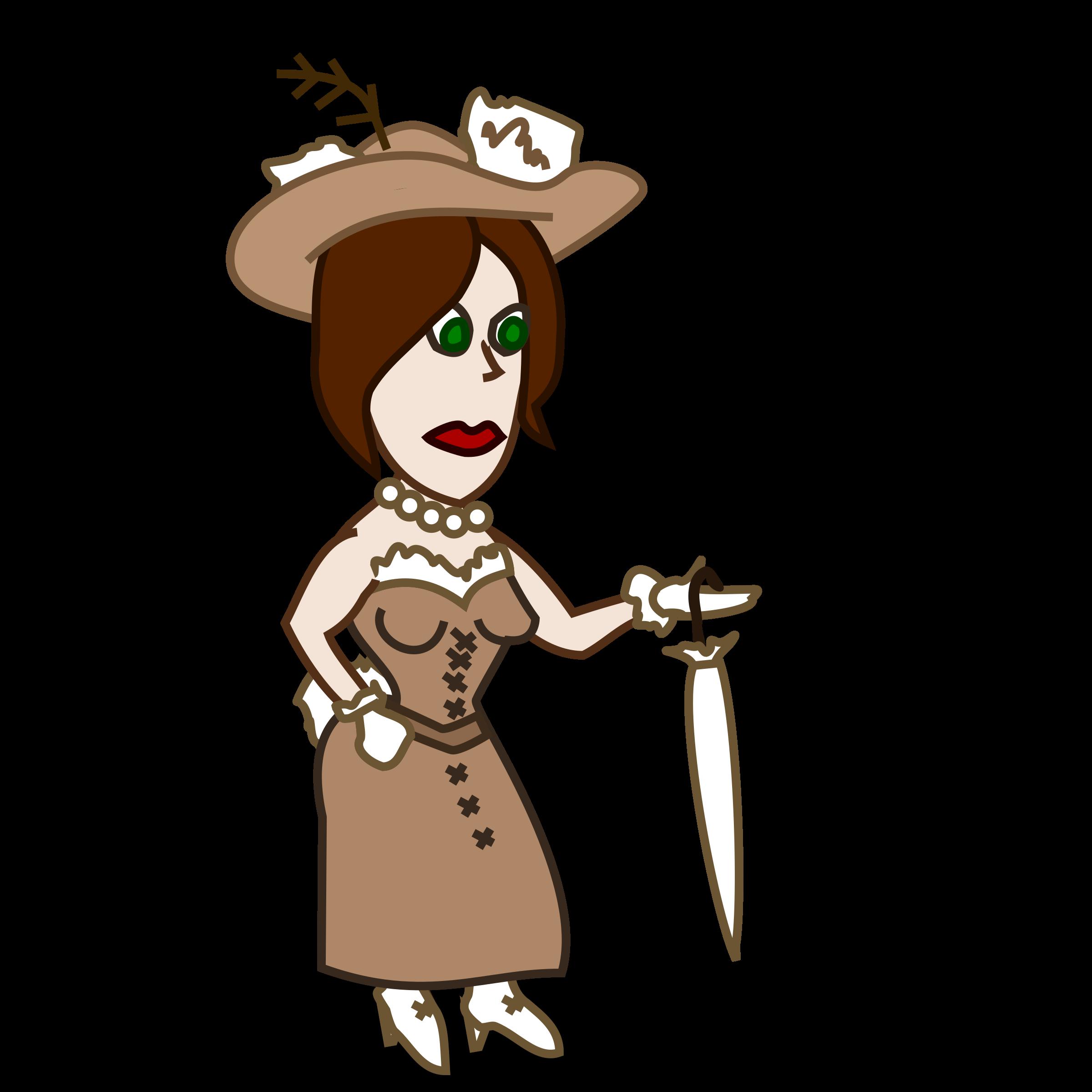 Costume clipart character. Comic characters lady big