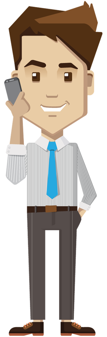 clipart phone businessman