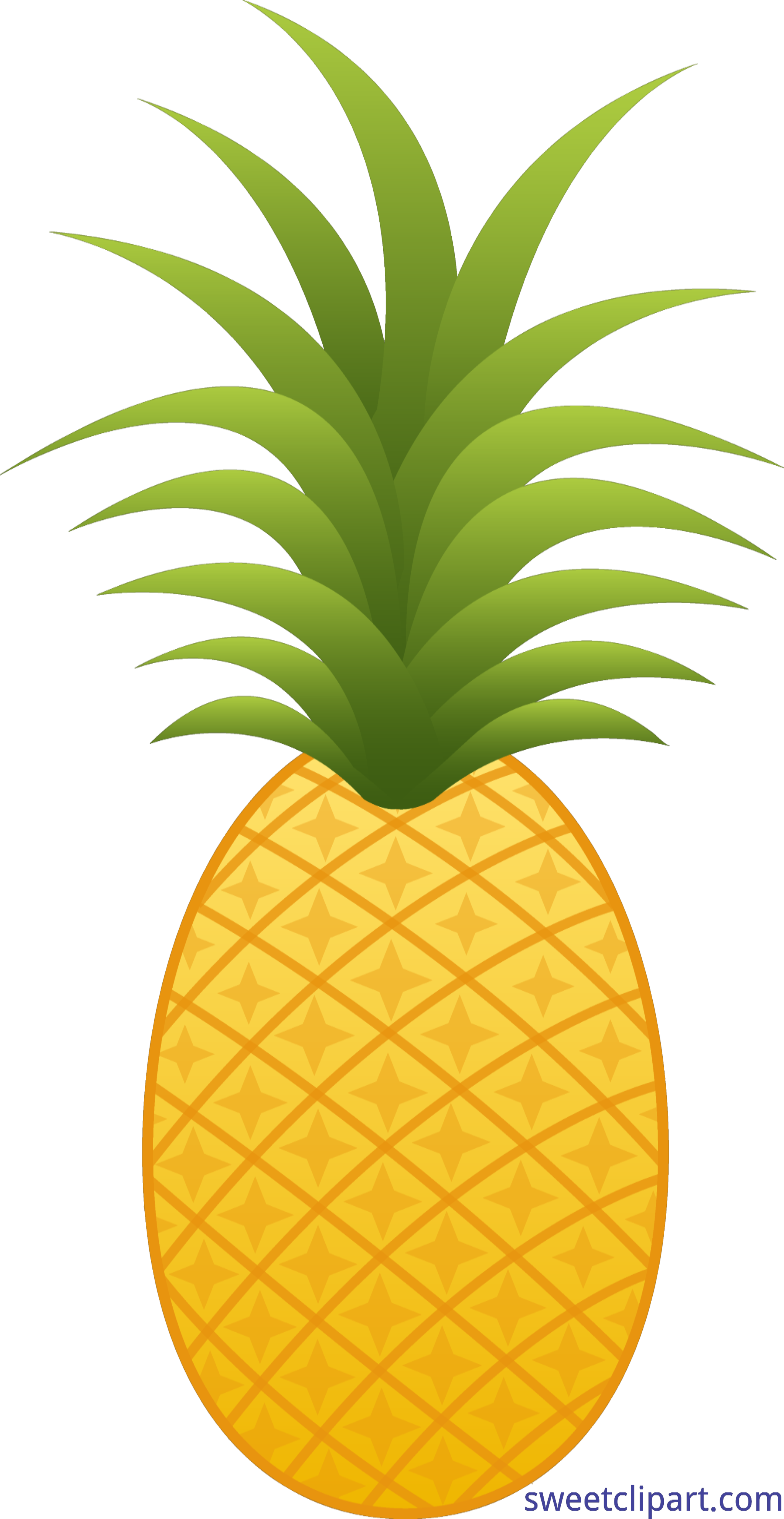Clip sweet. Pineapple clipart line art