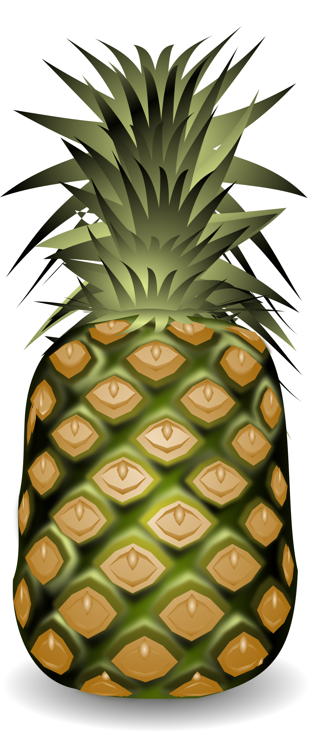 Ananasas big image png. Pineapple clipart pdf