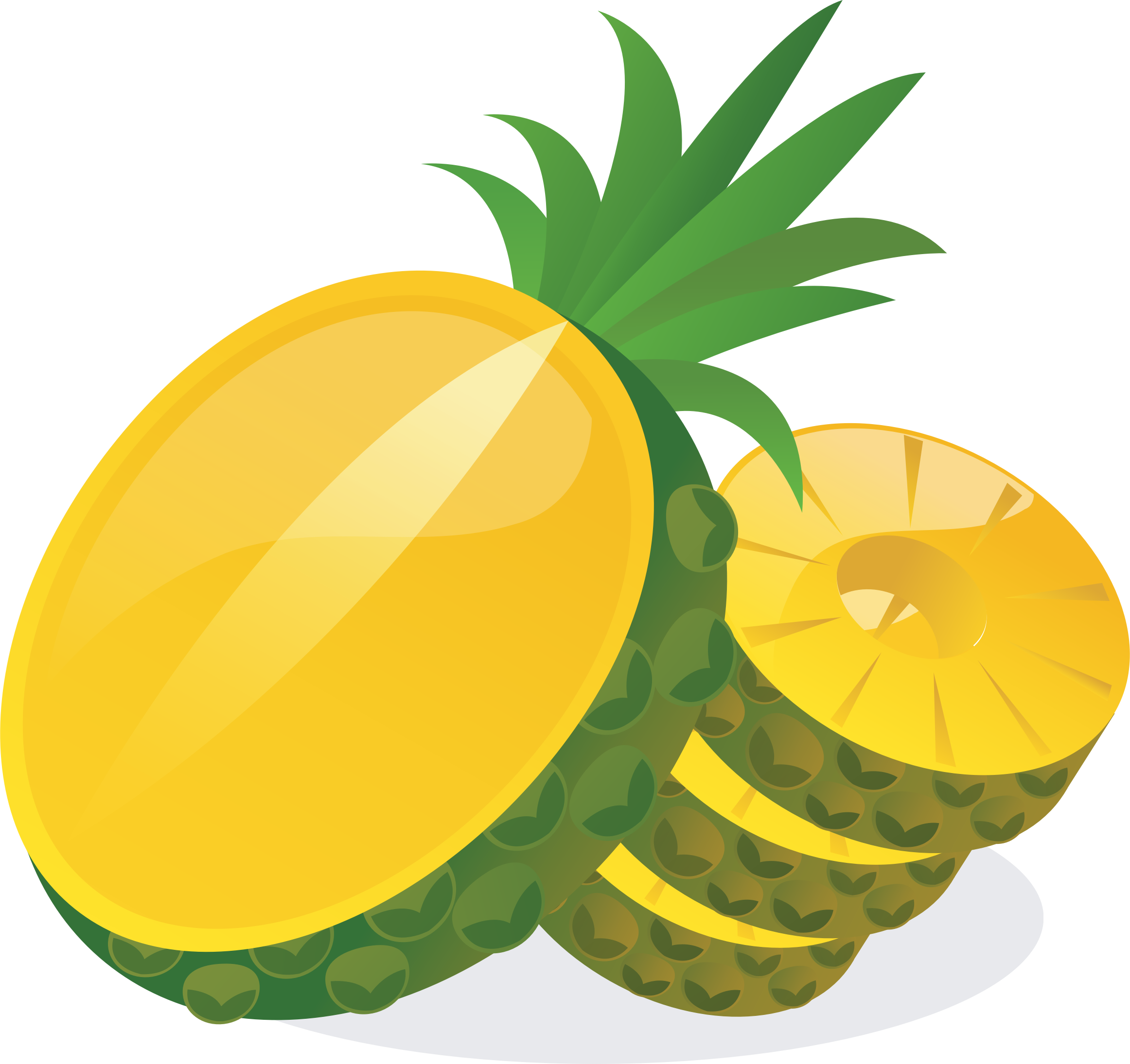 Leaf clipart pineapple.