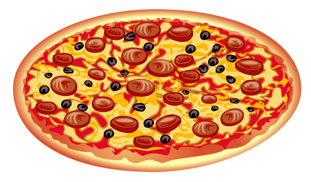 Download pizza images free. Fraction clipart food