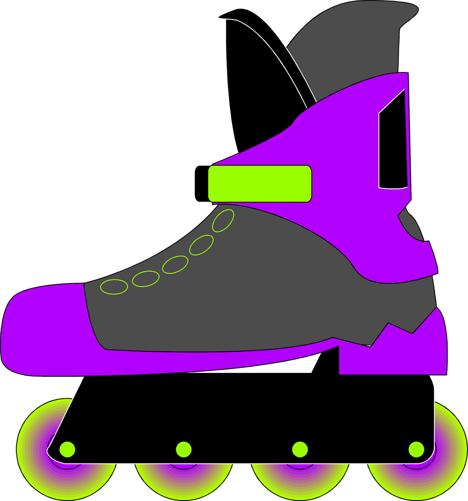 Clipart people roller skating. Rollerblade free stock photo