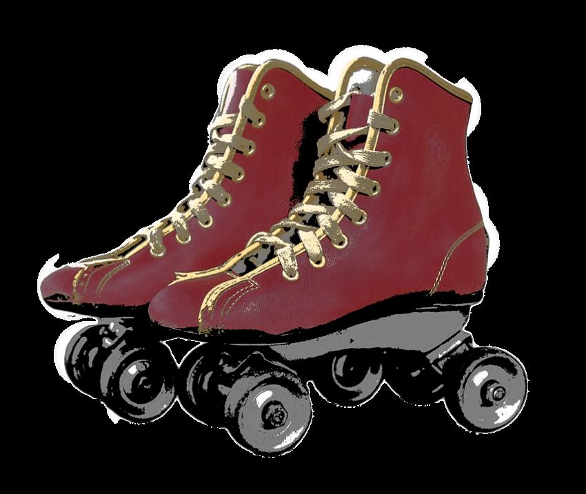 Skates png free images. Clipart people roller skating