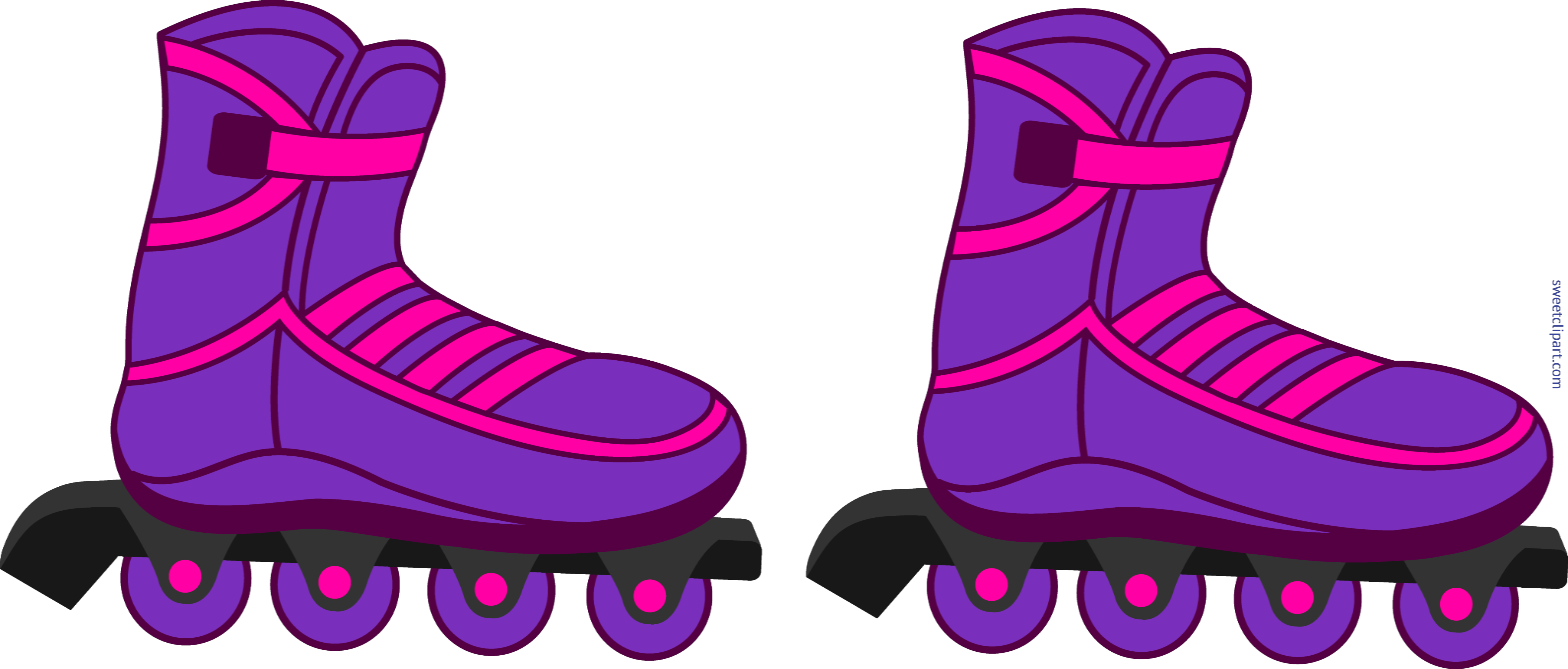 Rollerblades purple clip art. Person clipart roller skating