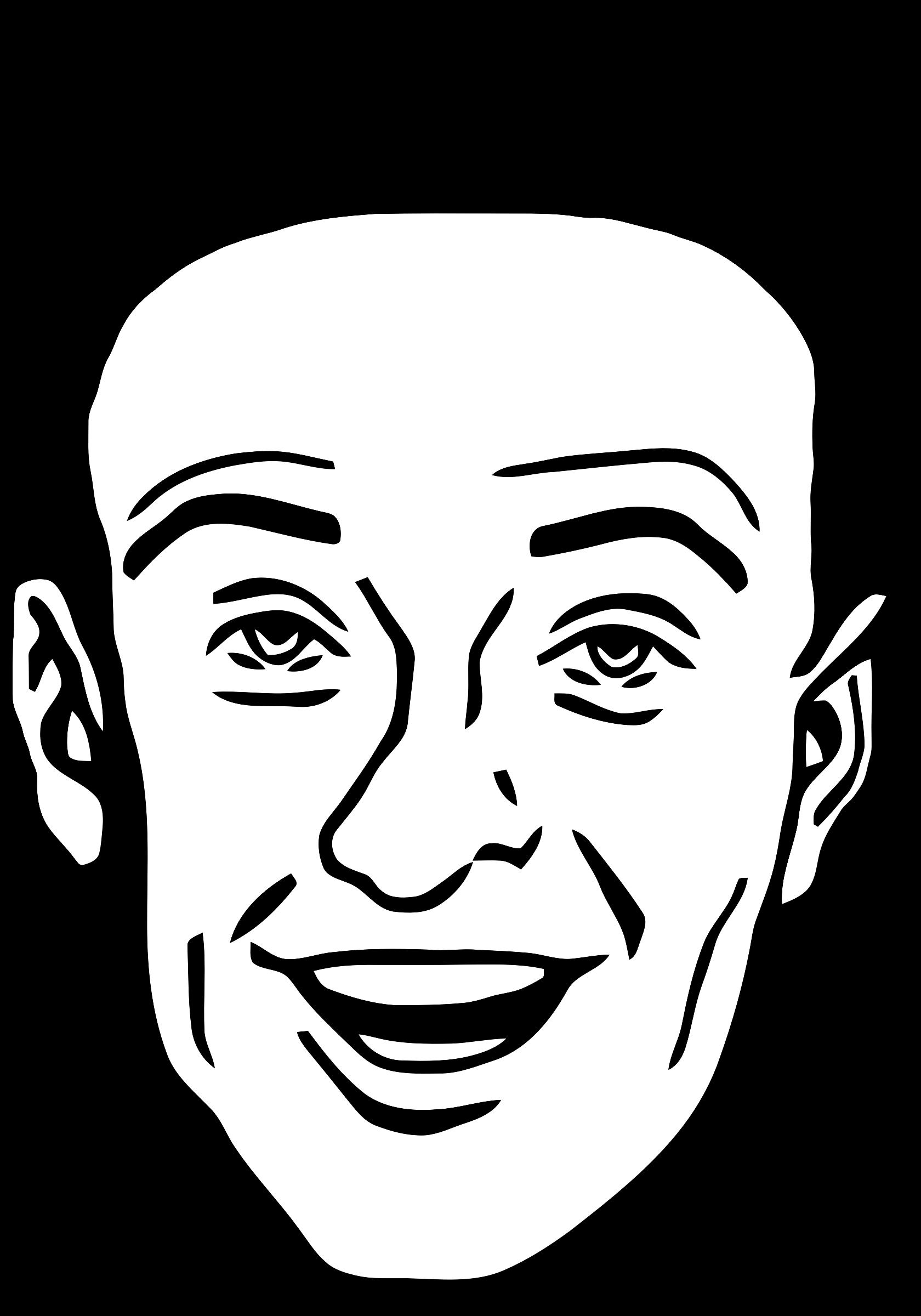 Clipart people smile. Smiling man big image