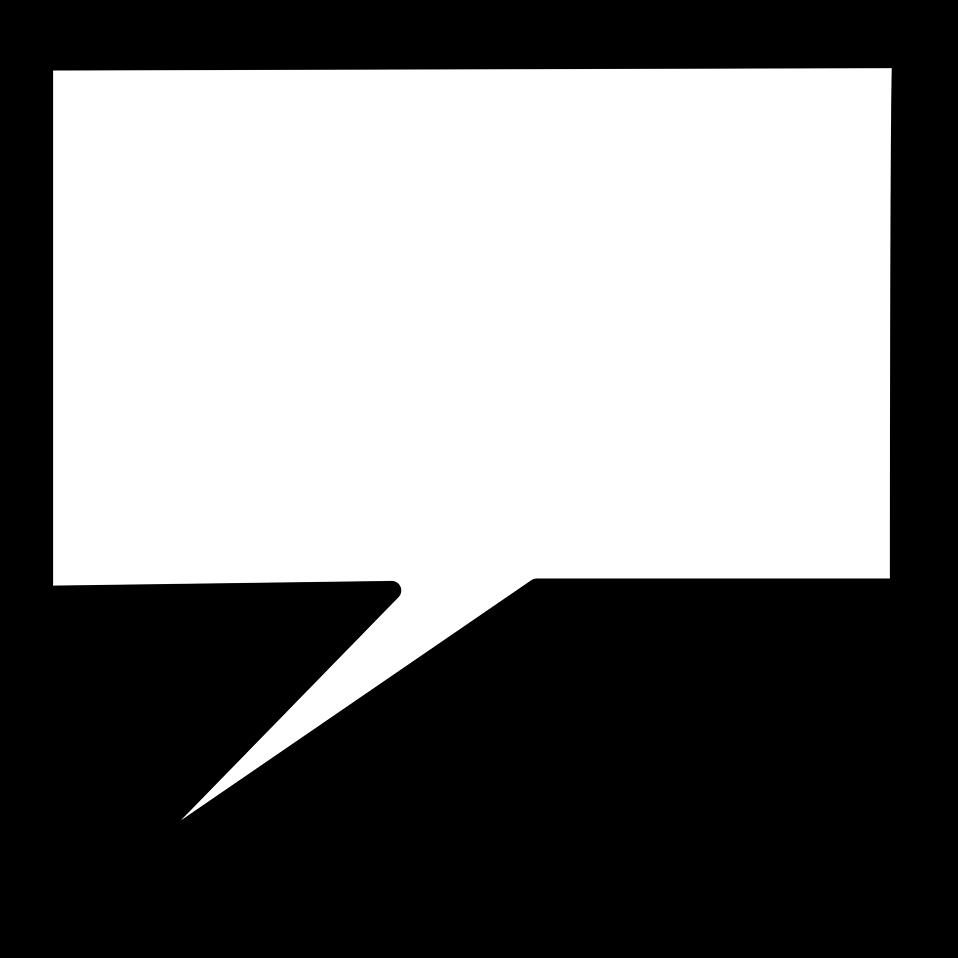 Square clipart speech bubble. Free stock photo illustration