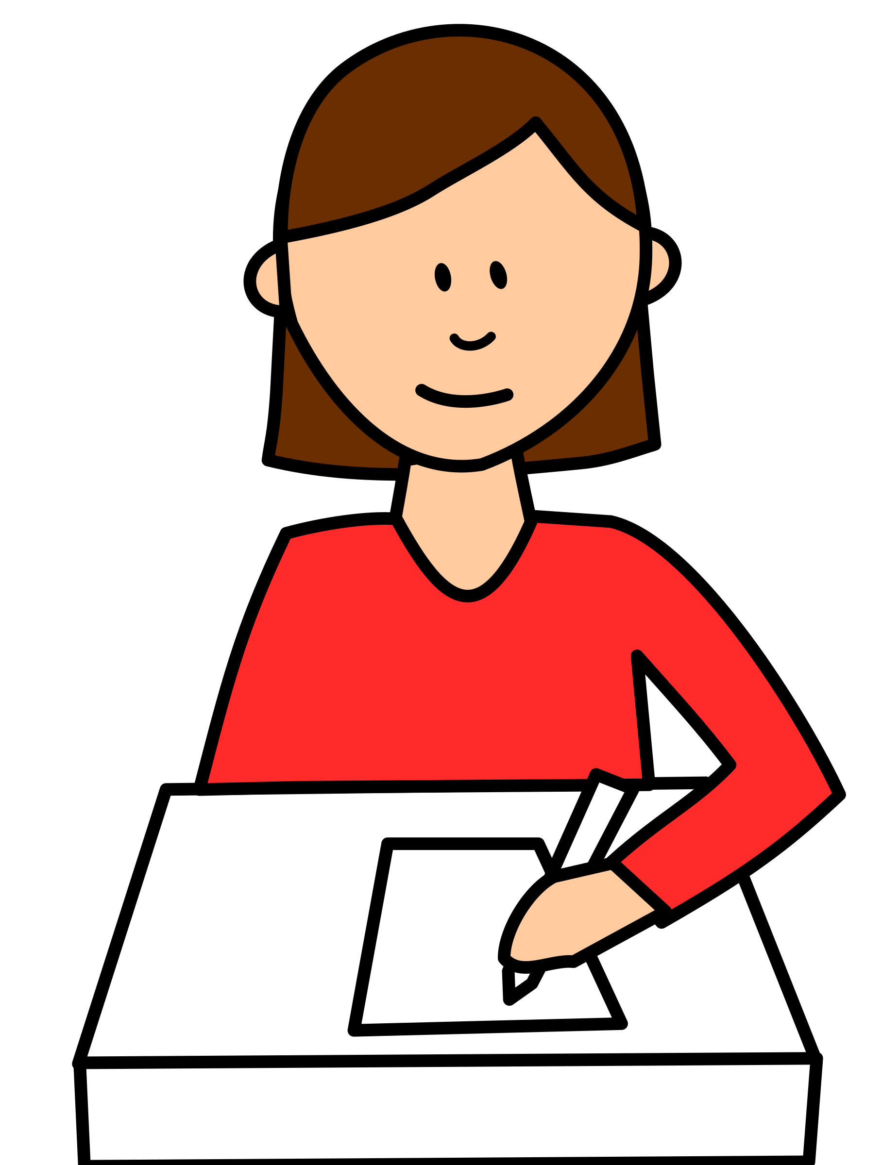 Student writing big image. Writer clipart woman writer