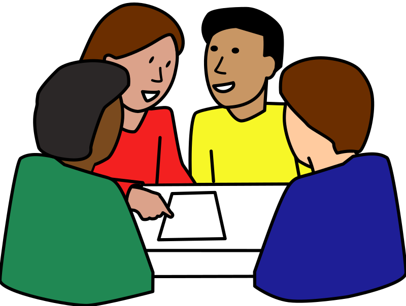 Diverse group medium image. Clipart people student