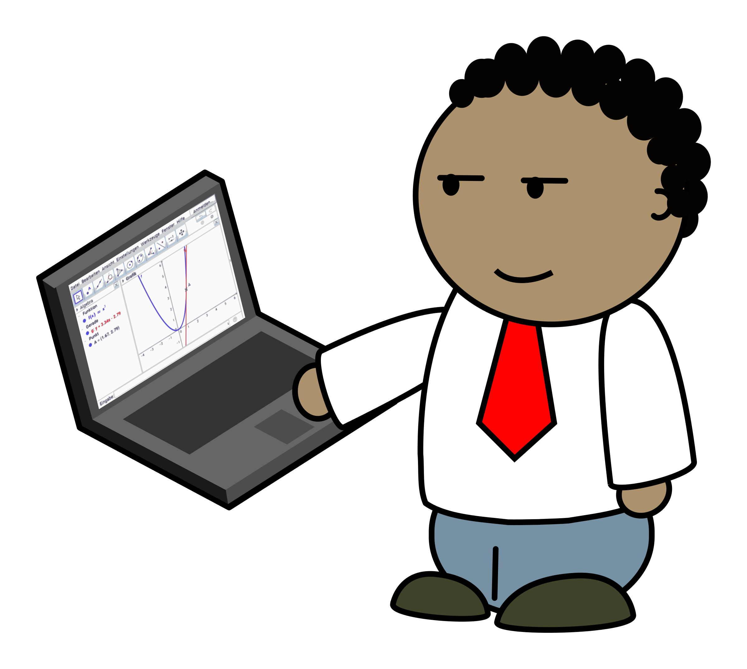 Person clipart technology. Geogebra for the teacher