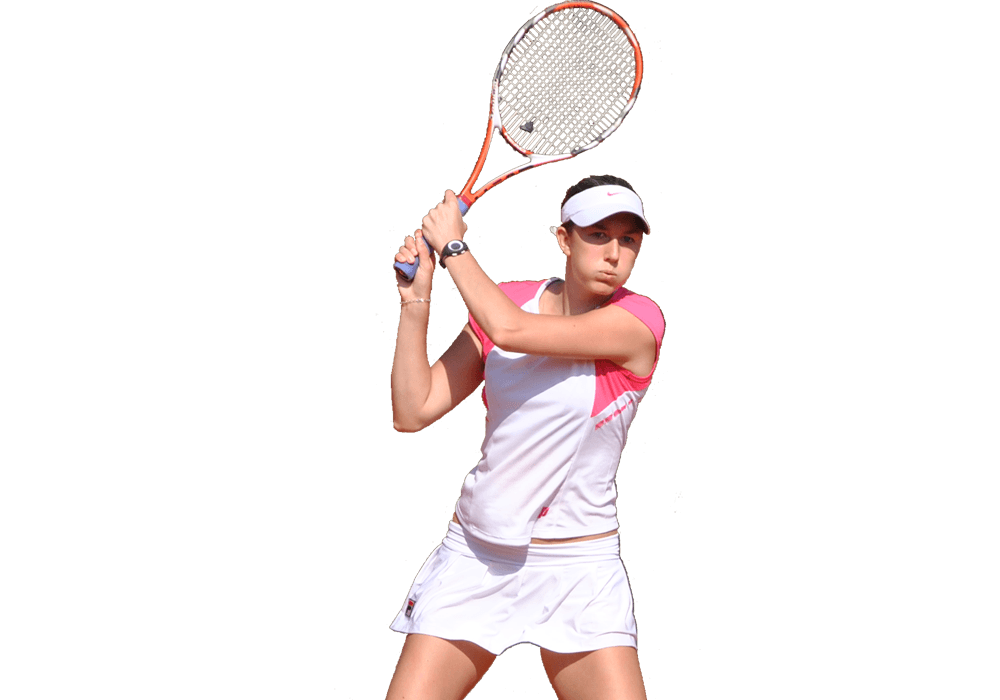 Player woman front transparent. People clipart tennis