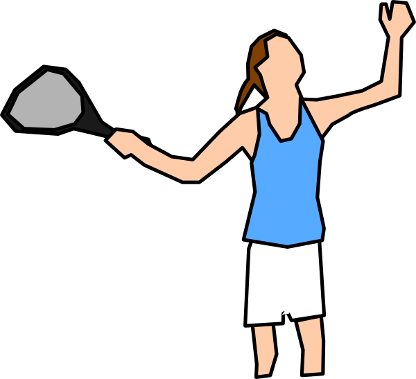 Girl player clip art. People clipart tennis