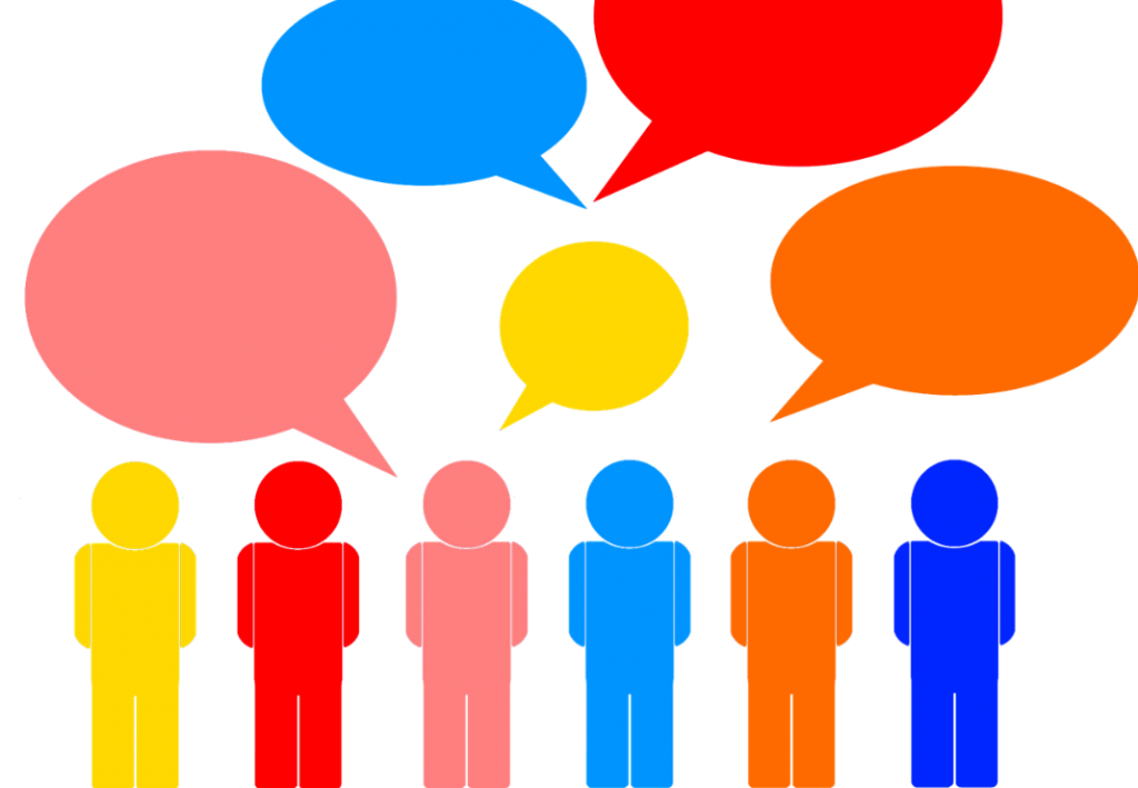collection of group. Conversation clipart topic
