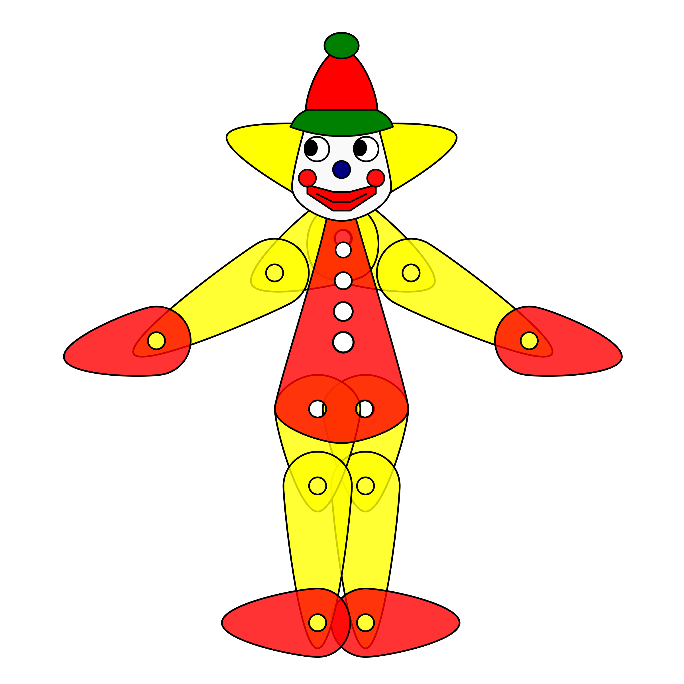 Toy puppet animation big. Clown clipart green